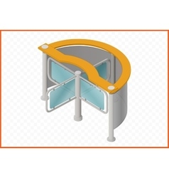 turnstile isometric perspective view vector image