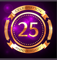 Twenty five years anniversary celebration with vector