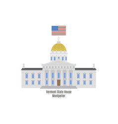 vermont state house vector image vector image