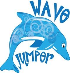 Wave jumper vector