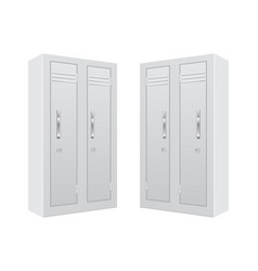 white personal locker vector image