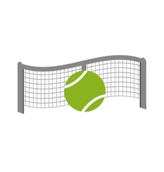 Net tennis sport equipment icon vector