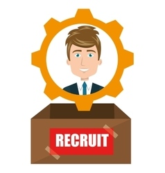 Avatar man recruit vector