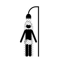 Person showering icon image vector