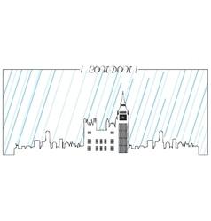 Isolated skyline of london vector