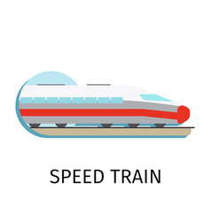 Speed train in flat style vector