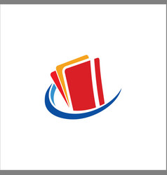 credit card technology logo vector image