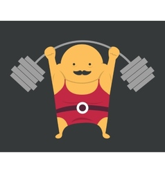 Weightlifter vector