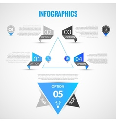 Paper infographics template vector