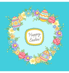 Easter wreath vector