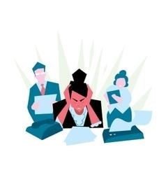 Office stress work vector