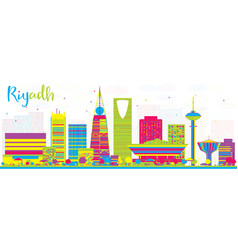 Abstract riyadh saudi arabia city skyline with vector