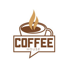 coffee cup and steam icon template for cafe vector image vector image