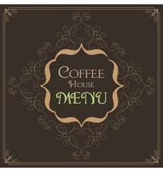 Coffee retro design wit florish border vector