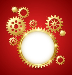 Cogwheel gear document template vector