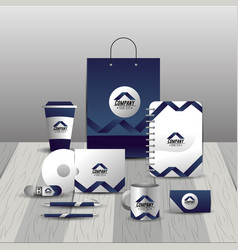 Company stationary template with business papers vector