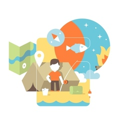 conceptual of fishing vector image vector image