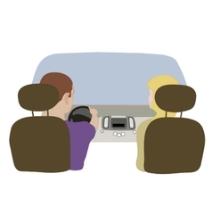 depicting a driver and vector image vector image