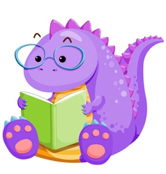 Dinosouar reading vector