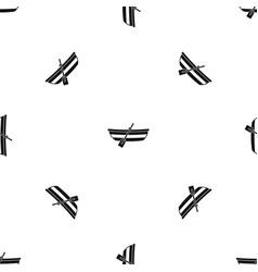 Fishing boat pattern seamless black vector