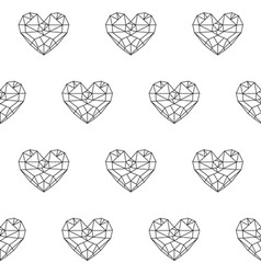 heart patterno3 vector image vector image