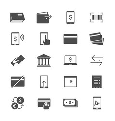 Internet banking flat icons vector