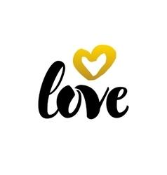 Love Handwritten Lettering vector image