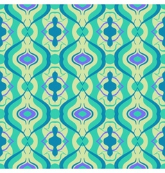Multicolor seamless pattern with arabic motif vector