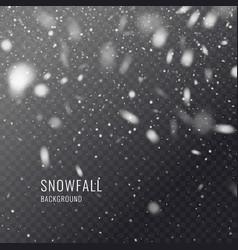 Realistic snowflake against a dark vector
