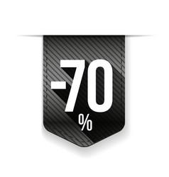 Sale seventy percent off banner grey ribon vector