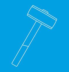 Sledgehammer icon outline vector