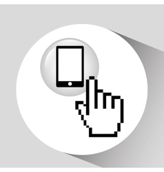 Smartphone screen touch document vector