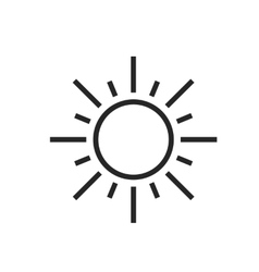 Sun Sunny day Weather forecast icon vector image