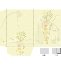 template for folder with carrot vector image vector image