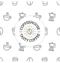 unique coffee and drink pattern or seamless vector image