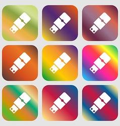 USB flash sign icon vector image