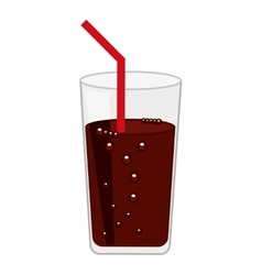 Soda glass drink beverage silhouette icon vector