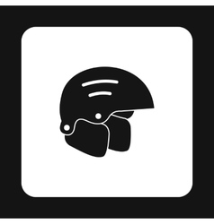 Snowboard helmets icon simple style vector