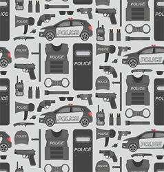 Police seamless pattern vector