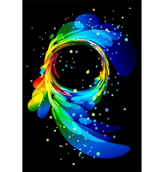 Abstract element on black background vector image