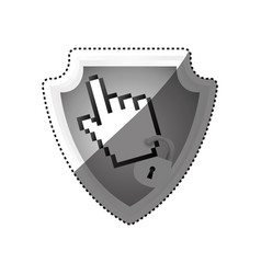 Shield security pointer hand vector