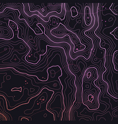 dark colorful topographic map background vector image