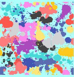 splash seamless pattern grunge colorful hand drawn vector image