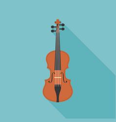 Wooden violin vector