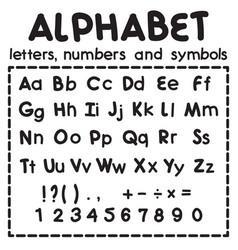 Black latin alphabet isolated on white background vector