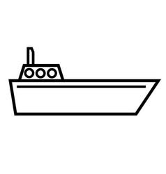 Navigate boat icon vector