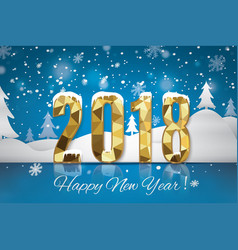 2018 happy new year snow backgroundmerry vector