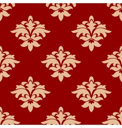 Maroon and beige seamless pattern vector
