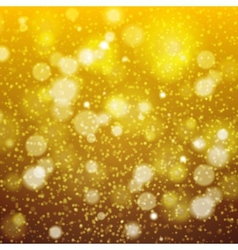 Christmas golden background bokeh effect defocused vector