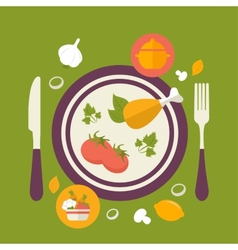 Healthy food concept vintage style vector